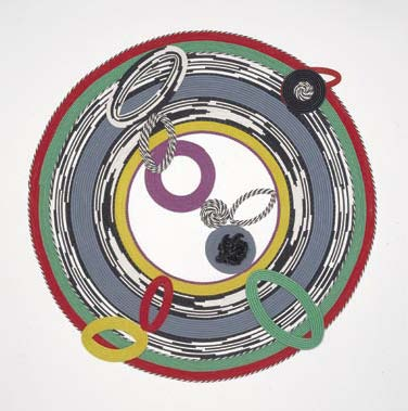 2002, painted welt, 75 inches diameter x 4 inches